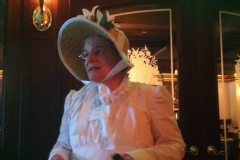 Dr. Ann Wass gives her talk on fashion history.